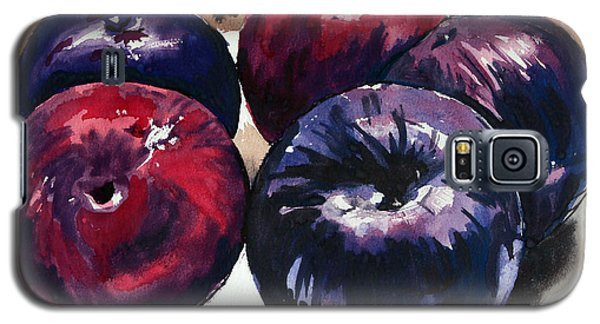 Galaxy S5 Case featuring the painting Plums by Joey Agbayani
