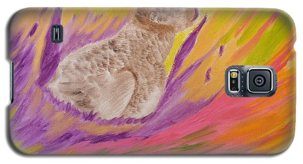 Galaxy S5 Case featuring the painting Plunge Into Your Painting by Meryl Goudey