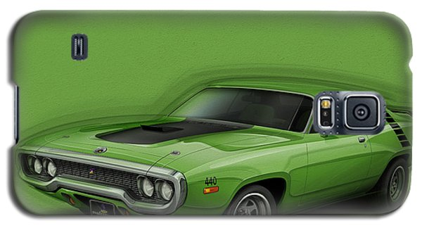 Plymouth Roadrunner 1972 Galaxy S5 Case by Etienne Carignan