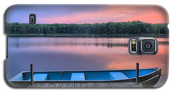 Poconos Lake Whitney Sunset Rowboat Galaxy S5 Case