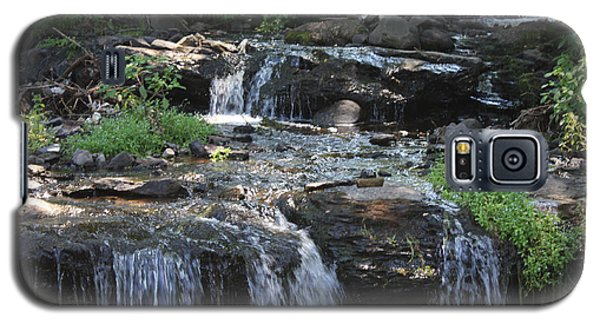 Galaxy S5 Case featuring the photograph Poconos Waterfall Stream by John Telfer
