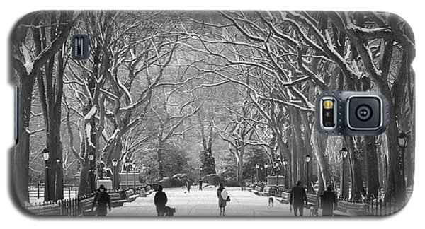 New York City - Poets Walk Winter Galaxy S5 Case