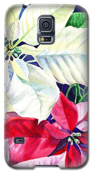Poinsettia Christmas Collection Galaxy S5 Case