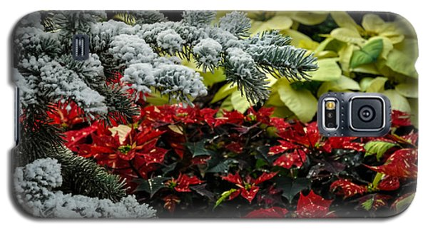 Poinsettia Garden Galaxy S5 Case