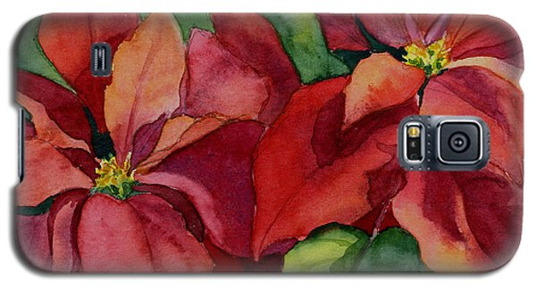 Galaxy S5 Case featuring the painting Poinsettia by Vikki Bouffard