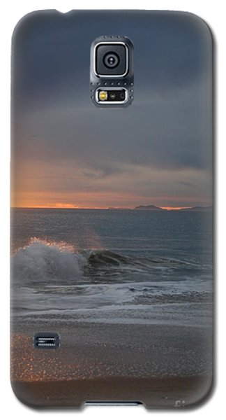 Point Mugu 1-9-10 Sun Setting With Surf Galaxy S5 Case