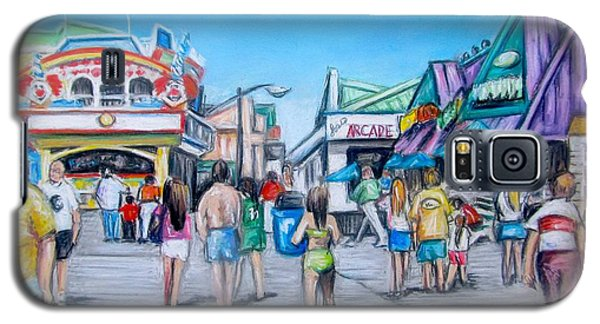 Point Pleasant Beach Boardwalk Galaxy S5 Case by Melinda Saminski