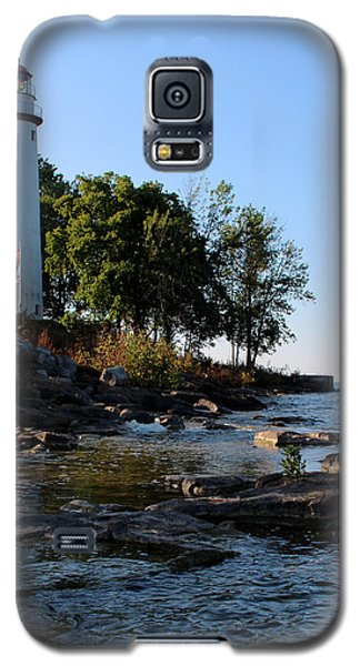 Pointe Aux Barques Lighthouse 1 Galaxy S5 Case by George Jones