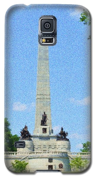 Galaxy S5 Case featuring the digital art Pointelisticlincoln's Tomb  by Luther Fine Art