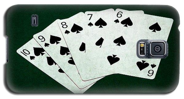 Poker Hands - Straight Flush 1 Galaxy S5 Case by Alexander Senin