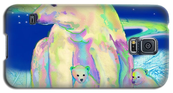 Polar Bear Aurora Galaxy S5 Case by Teresa Ascone