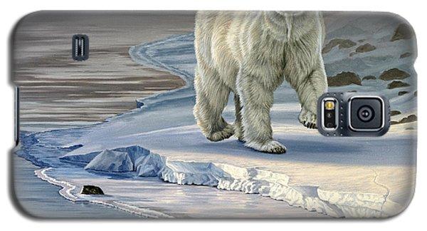 Polar Bear Galaxy S5 Case - Polar Bear On Icy Shore    by Paul Krapf