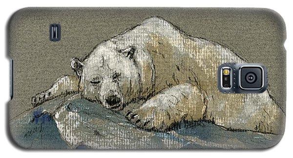Polar Bear Galaxy S5 Case - Polar Bear Sleeping by Juan  Bosco