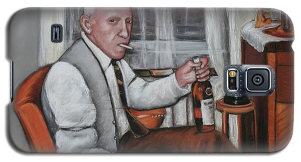 Galaxy S5 Case featuring the painting Polish Grandfather by Melinda Saminski