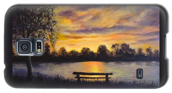 Galaxy S5 Case featuring the painting Polish Sunset by Bozena Zajaczkowska