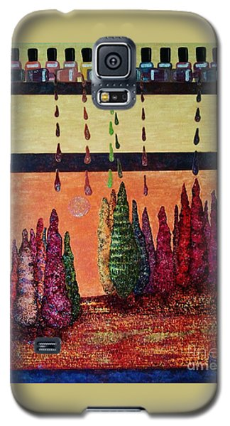 Galaxy S5 Case featuring the painting Polished Forest by Jasna Gopic