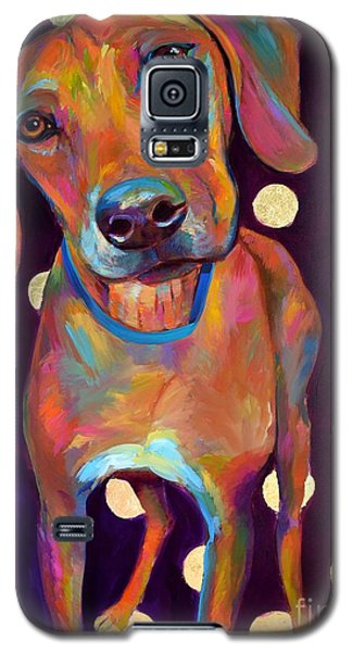 Galaxy S5 Case featuring the painting Polka Pooch by Robert Phelps