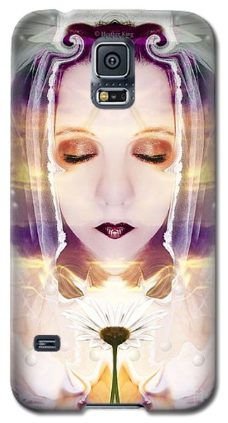 Galaxy S5 Case featuring the photograph Pollen From The Light Flower by Heather King