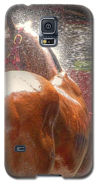 Polo Pony Shower Hdr 21061 Galaxy S5 Case