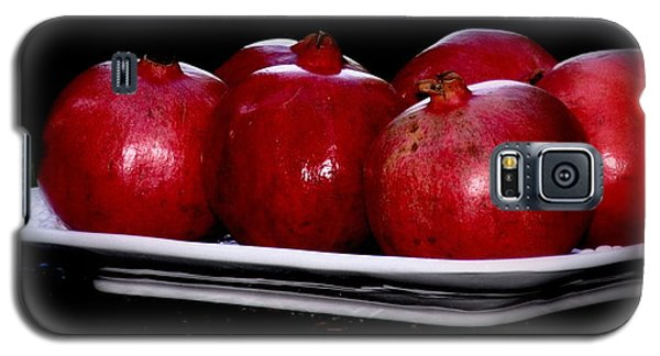 Pomegranates On White Platter Galaxy S5 Case