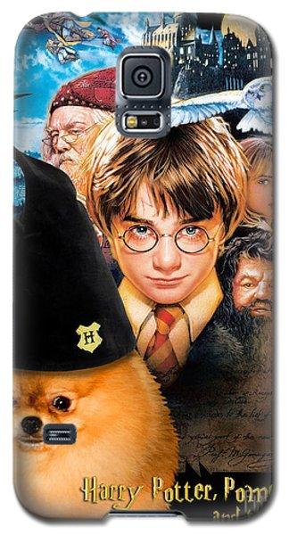Pomeranian Art Canvas Print - Harry Potter Movie Poster Galaxy S5 Case