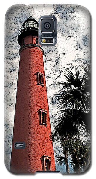 Ponce Lighthouse Artistic Brush Galaxy S5 Case by G L Sarti