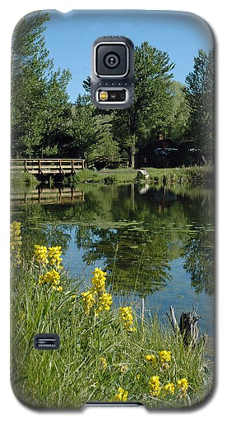 Pond And Bridge At Virginia City Montana Galaxy S5 Case