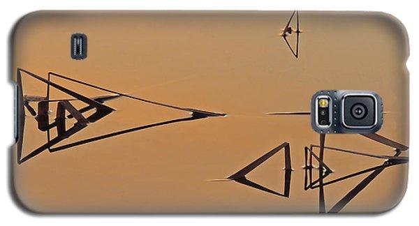 Pond Reeds Sunrise 3 Galaxy S5 Case
