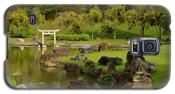 Pond Rocks Grass And Japanese Arch Singapore Galaxy S5 Case