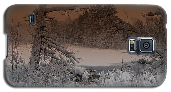 Galaxy S5 Case featuring the photograph Pond Scape by Mim White