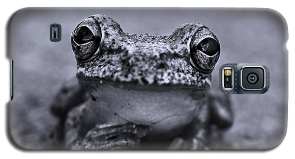 Pondering Frog Bw Galaxy S5 Case by Laura Fasulo