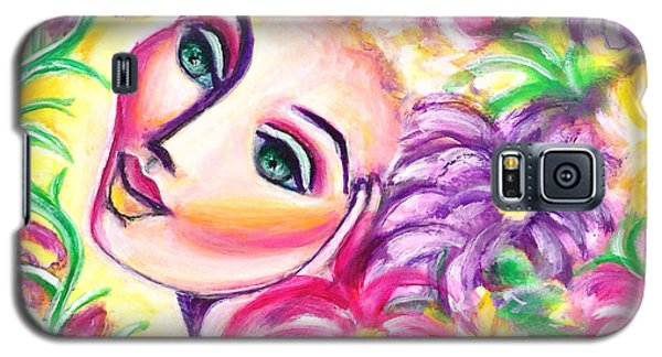 Galaxy S5 Case featuring the painting Pondering In A Garden by Anya Heller