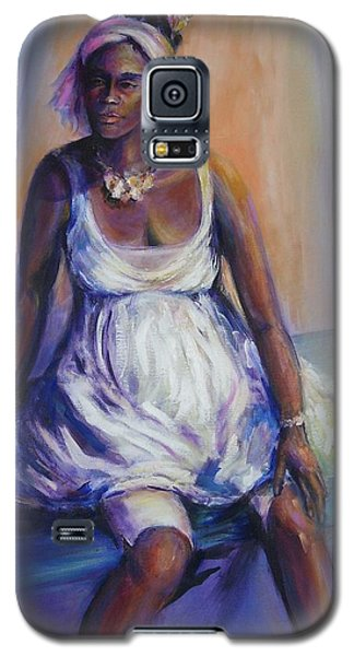Galaxy S5 Case featuring the painting Pondering The Future by Jodie Marie Anne Richardson Traugott          aka jm-ART