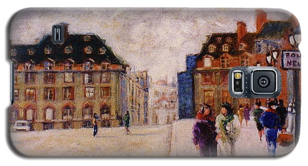 Galaxy S5 Case featuring the painting Pont Neuf by Walter Casaravilla