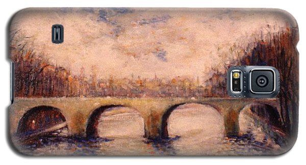 Galaxy S5 Case featuring the painting Pont Sur La Seine by Walter Casaravilla