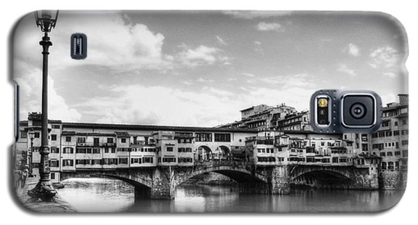 Ponte Vecchio At Florence Italy Bw Galaxy S5 Case