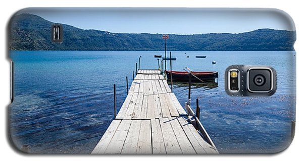 Pontoon With Rowing Boat On Lake Albano Lazio Italy Galaxy S5 Case