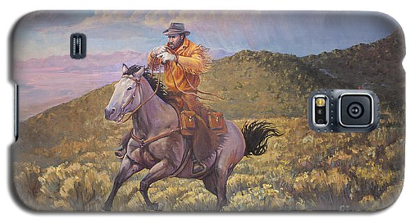 Pony Express Rider At Look Out Pass Galaxy S5 Case