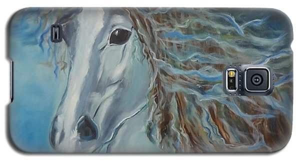 Galaxy S5 Case featuring the painting Pony by Jenny Lee