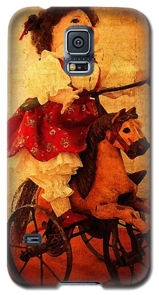 Galaxy S5 Case featuring the photograph Pony Ride by Timothy Bulone