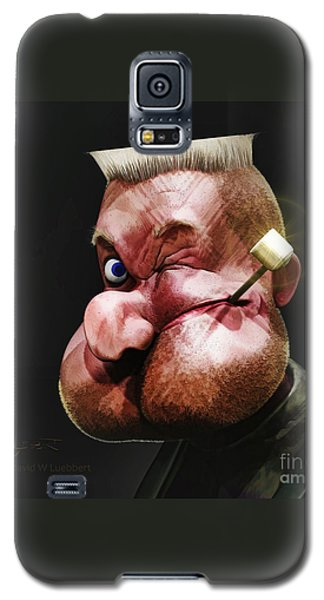 Galaxy S5 Case featuring the painting Popeye Portrait by Dave Luebbert