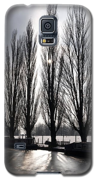 Galaxy S5 Case featuring the photograph Poplars In Winter by David Isaacson