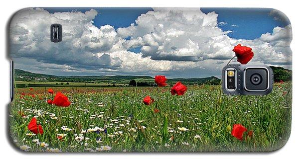 Poppied Landscape Galaxy S5 Case