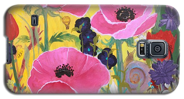 Poppies And Time Traveler Galaxy S5 Case