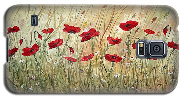 Galaxy S5 Case featuring the painting Poppies And Wild Flowers by Dorothy Maier