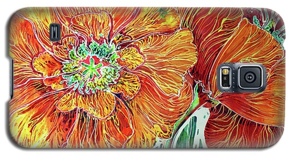 Poppies Batik Abstract Galaxy S5 Case
