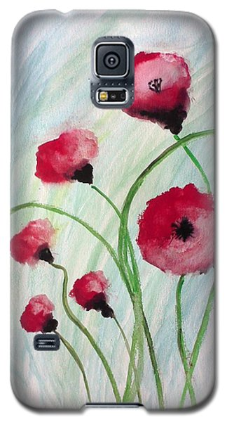 Galaxy S5 Case featuring the painting Poppies by Carol Duarte