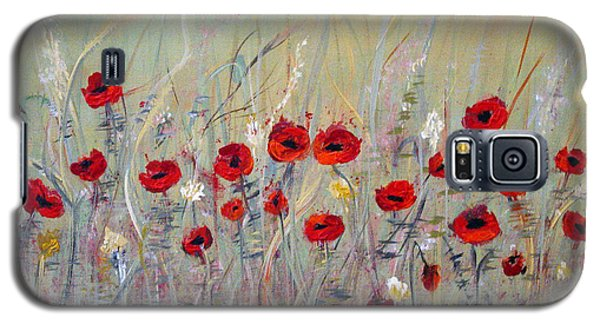 Galaxy S5 Case featuring the painting Poppies by Dorothy Maier