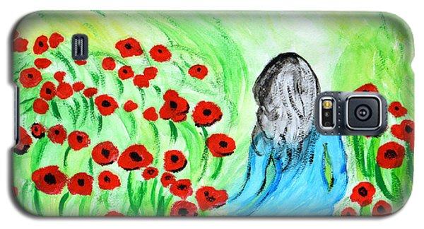 Poppies Field Illusion Galaxy S5 Case