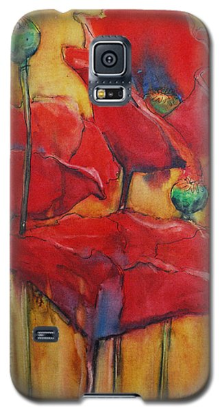Galaxy S5 Case featuring the painting Poppies IIi by Jani Freimann